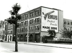 Venus pencil factory Lower Clapton road in between Powell house and Rowhill rd Lower Clapton Hackney collageAlan Russell (@soxgnasher) on Twitter