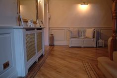 Made to order radiator cabinet with brass grill to match in perfectly with the panelling For a famous footballers home : ))X