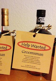 Best Man & Groomsman Proposal