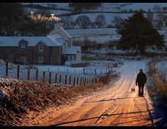 Winter Evening Walk, near Kilmacolm, Inverclyde, Scotland