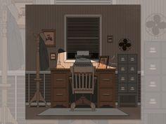 1920s Detective Office