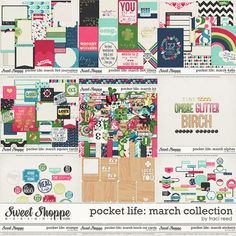 Pocket Life: March Digital/Printable Collection by Traci Reed - Perfect for Project Life!