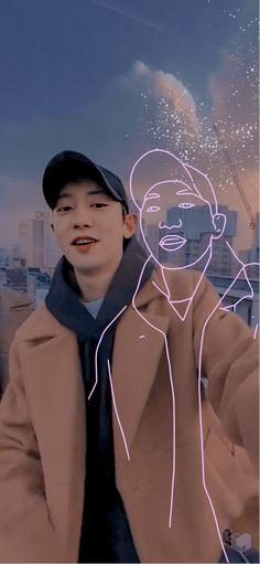 Foto Chanyeol Exo, Chanyeol Cute, Kyungsoo, Exo Music, Exo Songs, Exo Anime, Cute Baby Wallpaper, Exo Lockscreen, Exo Memes