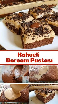 Turkish Recipes, Ethnic Recipes, Turkish Kitchen, Good Food, Yummy Food, Pie Cake, Food Presentation, Cake Cookies, Chocolate Cake