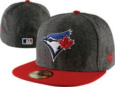 Toronto Blue Jays Grey Wool New Era Melton Basic Fitted Hat  35.99 http    db2ec531414e