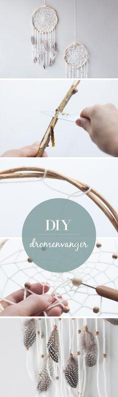 DIY Dromenvanger maken #dreamcatcher #diy Diy Gifts For Friends, Diy Gifts For Boyfriend, Diy Wood Wall, Dream Catcher Mobile, Diy Storage Boxes, Summer Diy, Diy Craft Projects, Fun Crafts, Diy Christmas Gifts