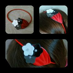 Red & Co leather headband