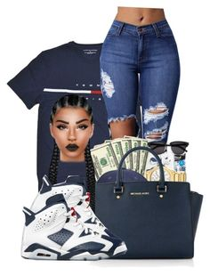 """""""Tommy Hilfiger"""" by ballislife ❤ liked on Polyvore featuring Michael Kors"""