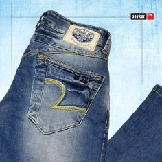 Comfort throughout the day and style when you hit the town at night! Spykar Jeans, Denim Pants, Jeans Pocket, Patterned Jeans, Basic Outfits, Jeans Style, Fashion Pants, Clothes, Men Models