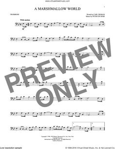 Sigman - A Marshmallow World sheet music for alto saxophone solo Trombone Sheet Music, Alto Sax Sheet Music, Viola Sheet Music, Digital Sheet Music, We Built This City, Music Words, Book Boyfriends, Custom Guitars