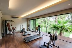 Top 10 Dream Home Gyms - This dream home gym which enables you to feel outdoors, indoors