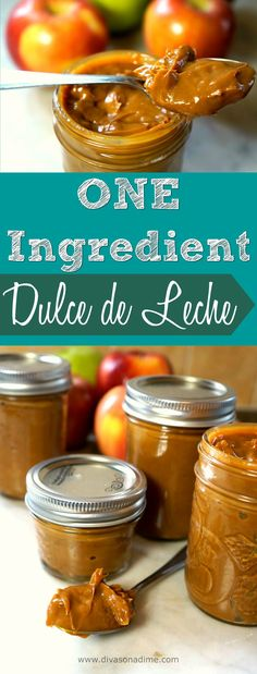 One ingredient? Seriously? What's the easiest, most impressive dessert ever? Dulce de Leche! You should have a jar of this in the fridge at all times!