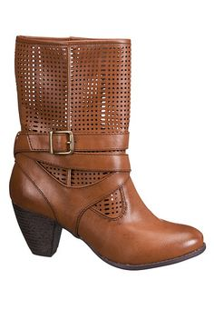 Bobbi Perforated Boot (original price, $49) available at #Maurices