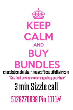 """3 Questions for you 1. Is you hair paying your bills  2. Are you making Money off the hair you buy? 3. If not you then who would be great for this Awesome Opprotunity  If you answered """"NO""""  then click link to learn more. http://chocolatemobilehair.houseofbeautifulhair.com/index.php/earn-cash Get in the 3 min Sizzle call 5128270038 Pin 1111#"""