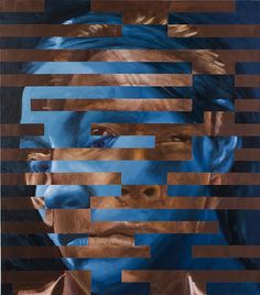 "Jeff Huntington - Xenia Cage, Part of the ""Brushed With Reality"" group show at Porter Contemporary, New York. Face Collage, Collage Art, Photomontage, Portrait Picasso, Photography Projects, Art Photography, Ap Studio Art, A Level Art, Illusion Art"