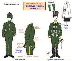 Cacciatori a cavallo 1° Rgt. uniforme da caserma 1812