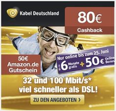 Kabel Deutschland (32 & 100 Mbit/s) mit 180€ Prämie *UPDATE* - myDealZ.de
