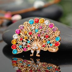 Fashion Vintage Peacock Both Brooch And Scarf Buckle for Women $11.25 #Lovejoynet #Brooch