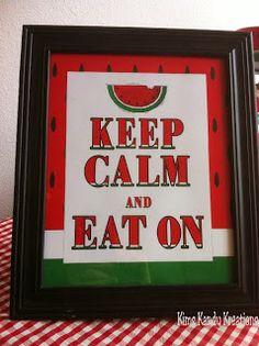 Keep Calm and Eat On Watermelon Printable