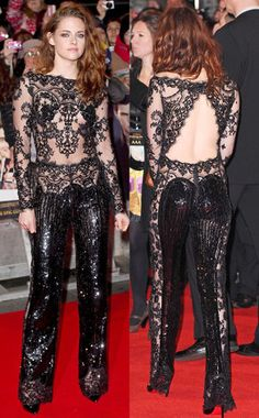 Kristen Stewart and Robert Pattinson Hold Hands at Breaking Dawn Part 2 London Premiere Kristen Stewart Fan, Kristen Stewart Twilight, Kristen Stewart Pictures, Kirsten Stewart, Beautiful Young Lady, Beautiful People, Girl Celebrities, Celebs, Club Party Dresses