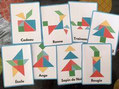 Tangram de Noël avec 14 modèles à imprimer | Un jour une activité pour Noël | Pinterest | Jouer ...
