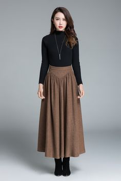 55 Best BROWN skirt outfits images  a37df7f298f