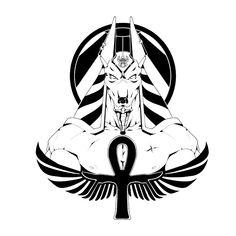 ArtStation - Anubis, Rafael Fonseca Aztec Warrior Tattoo, Egypt Tattoo, Tribal Tattoos, Mythology Tattoos, Scarab Tattoo, Egyptian Tattoo, Japanese Tattoo Art, Anubis Tattoo, Clock Tattoo Design