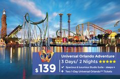 Plan your Escape now - Universal Orlando Resort Getaway Features Thrills & Adventure - As a referral of the Rosloniec family, you will receive additional savings when you call today! Orlando Resorts, Orlando Vacation, Vacation Deals, Florida Vacation, Vacation Trips, Florida Beaches, Sandy Beaches, Orlando Florida, Travel Deals