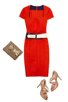 What to look for in a red sheath dress