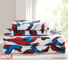 Spider-Man™ Sheet Set Stupid price, but cotton.  Maybe they will go on sale.