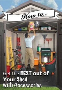 People purchase sheds to use them as storage space but by using shed accessories you could improve your shed organisation to a greater degree. Cheap Sheds, Shed Organization, Garage Plans, Cabins, Storage Spaces, Improve Yourself, Houses, Play, How To Plan