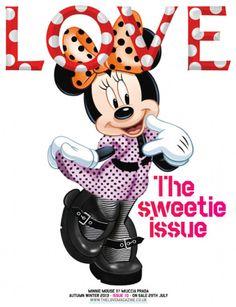 Disney Wears Prada: Minnie Mouse Models Miu Miu for Love Magazine Mickey Mouse E Amigos, Mickey E Minnie Mouse, Mickey And Minnie Love, Mickey Mouse And Friends, Disney Mickey, Mouse Pictures, Disney Pictures, Disney Love, Disney Magic