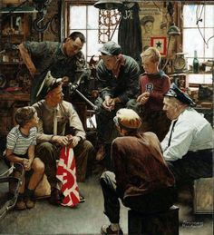 "dieselfutures: ""The Homecoming Marine - Norman Rockwell """