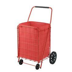 Sandusky 4 Wheel Utility Cart with Liner Grocery Garden Metal Wagon Folding Shopping Cart, Folding Cart, Shopping Carts, Shopping Sites, 110 Pounds, 110 Lbs, Rolling Utility Cart, Rolling Storage, Grocery Basket