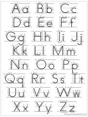 Proper Letter Formation for preschoolers. Make a green dot