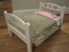 Paint and bedding idea for Ikea DUKTIG doll bed