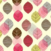 linear leaves bright wallpaper cream by amel24