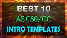 The Best 10 Intro Templates Ever! After Effects Free Download. They are no plugins intro templates, they work in After Effects CS6, CC and higher versions.
