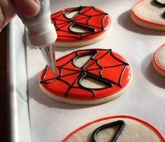 Spiderman's Face Cookies - Galletitas del Hombre Araña