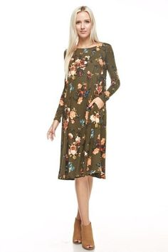 Find modest Apostolic clothing for today's modern women at Dainty Jewell's. Modest Dresses For Women, Modest Maxi Dress, Modest Outfits, Modest Fashion, Fall Outfits, Cute Outfits, Clothes For Women, Fall Clothes, Vacation Dresses