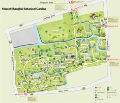 Shanghai botanical garden map