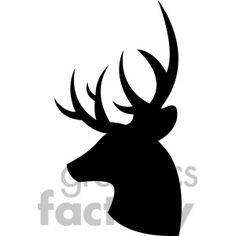 Hirsch Silhouette, Deer Head Silhouette, Silhouette Art, Hirsch Illustration, Deer Illustration, Deer Drawing, Drawing Heads, Deer Jumping, Buck Deer