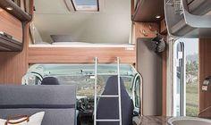 SKY TRAVELLER 650 DG SL Interieur Alkoven-Bett mit Leiter