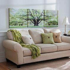 Improvements Savannah Oak Tree Triptych Canvas Print-Set of 3