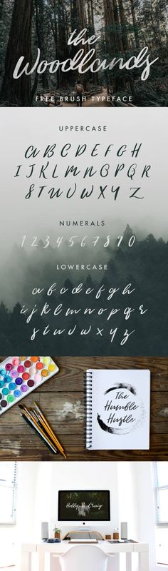 The Woodlands – Free Brush Script – Pixel Surplus