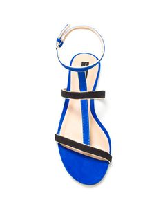 Azul. Sandalias. Lindas. Obsesionada!