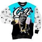 Sweatshirt 3d Tupac Shakur 2pac Men Pullover Weed Hoodies Sweater Shirts (M)
