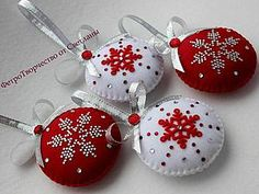 Sew Cute Christmas decorations out of felt | Fair Masters - handmade, handmade