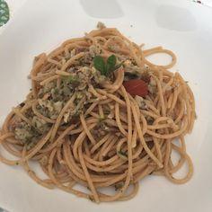 """""""Mi piace"""": 29, commenti: 2 - mariella sebastiani (@mariellasebi) su Instagram: """"Esperimento del giorno riuscito👨🍳spaghetti integrali con pesto di melanzana 🍆 con alga mandorle…"""""""