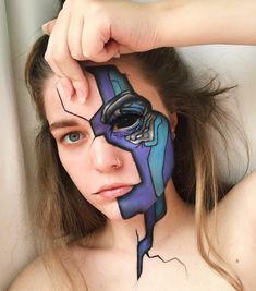 Cool Makeup Looks, Creative Makeup Looks, Crazy Makeup, Pretty Makeup, Amazing Halloween Makeup, Photographie Portrait Inspiration, Character Makeup, Eye Makeup Art, Special Effects Makeup